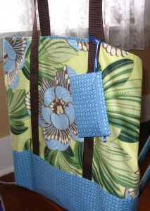 Tote and coin purse.