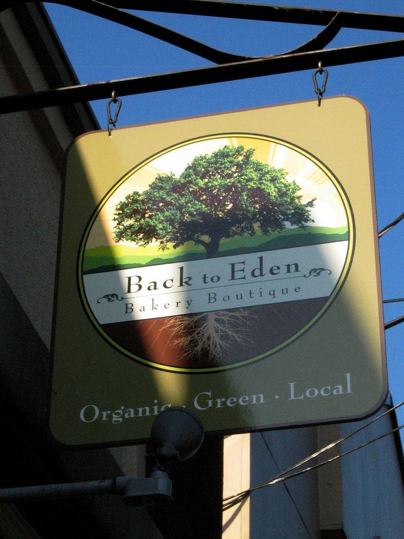 Back to Eden sign